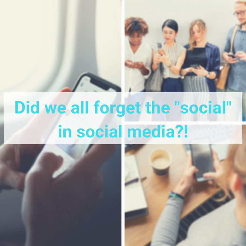 did we forget social part of social media for business