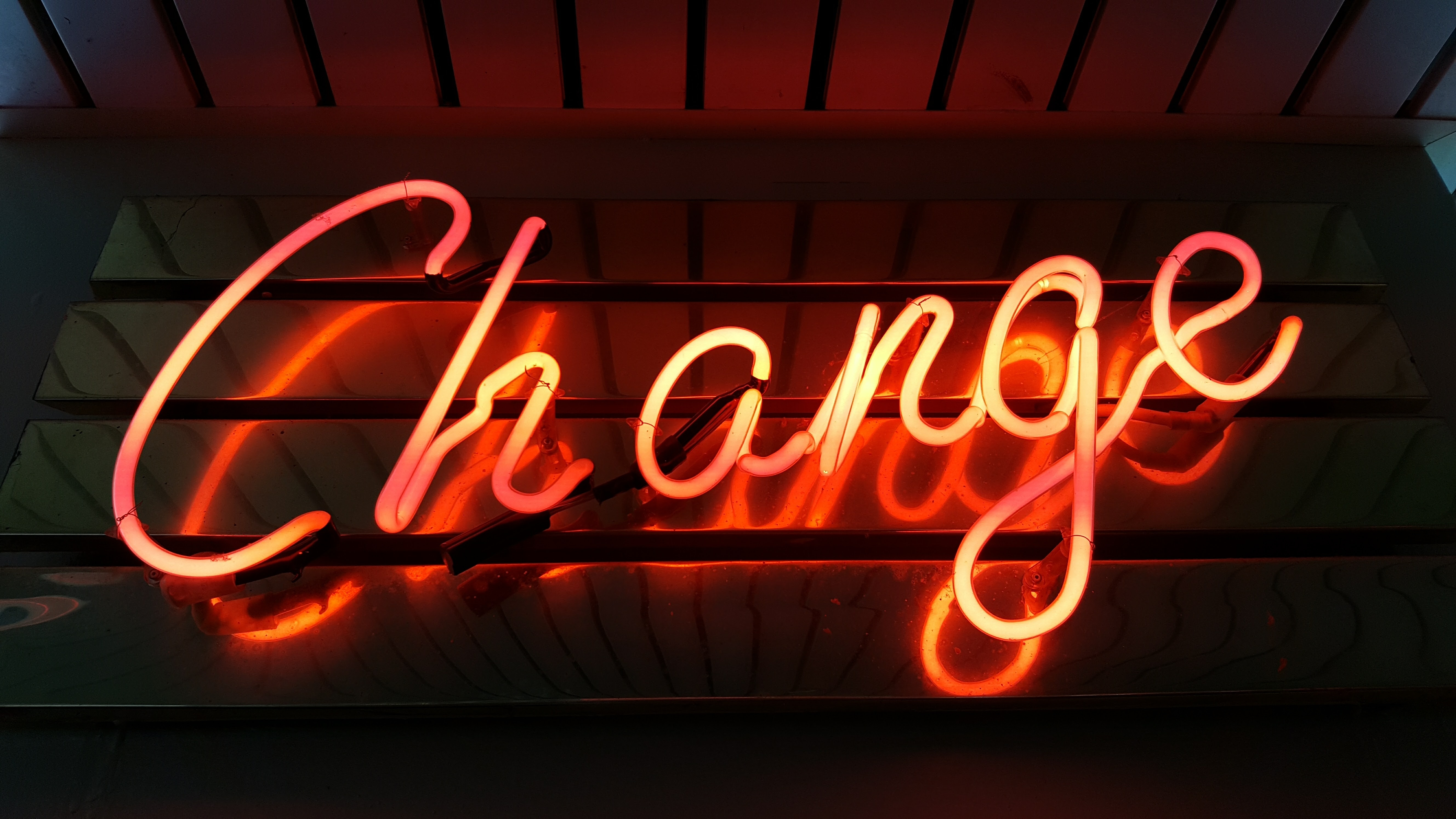 neon change sign time to change marketing mindset