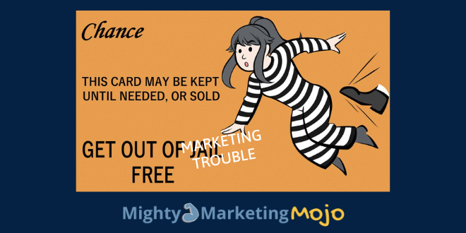 Mighty Marketing get out of marketing jail card coaching services
